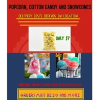 Popcorn, Cotton candy and Snowcone