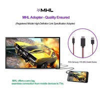 Micro USB to HDMI Cable For MHL Output Adapter HDTV Samsung phones