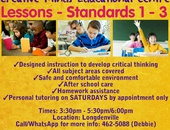 Lessons Standards 1-3