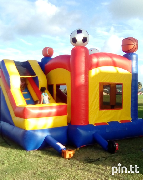 Sport themed bounce and slide bounce house-3