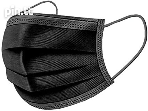 Black 3 PLY Disposable Surgical Grade Mask-1