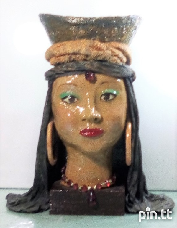 Ornament- Head with basket -Art by Lestra-1