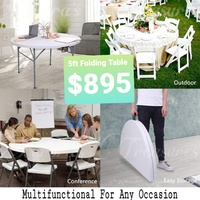 5ft Folding Table - for Zoom Classes