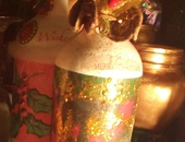Bottle Decoupage Home Decor and Christmas Gift