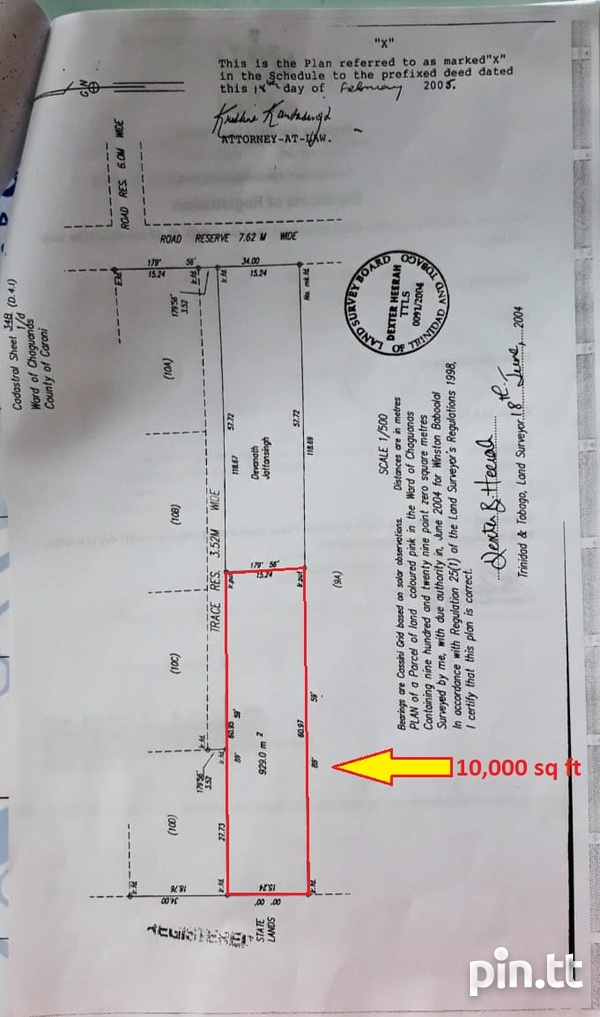 Unapproved 10,000 sq ft Land, Chin Chin, Cunupia-4