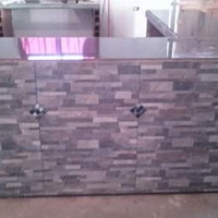 Counter top building and installation