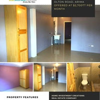 Olton Road Arima Apartment with 1 Bedroom