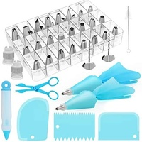 Kootek 42-Piece Piping Bags and Tips Set Cake Decorating Supplies with Numbered