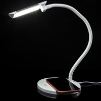 Home Essentials - LED Desk Lamp with built in Wireless charger