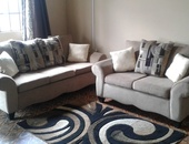 2 piece Zina couch set with center rug