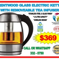 Glass Electric Kettle With Tea Infuser