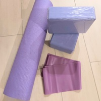4 Piece Purple Yoga Set