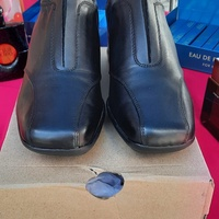 Clarks Ladies Work Shoes Leather Uppers