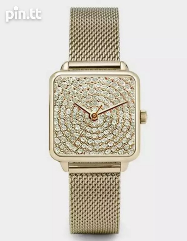Square face magnetic strap watch-1