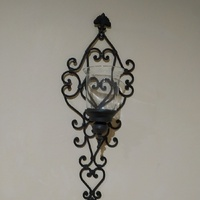 Pair of wall mounted candleholders