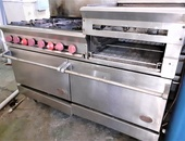 DCS Commercial Stove with raised griddle
