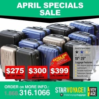 Star Voyage Suitcases.... 2pc combo