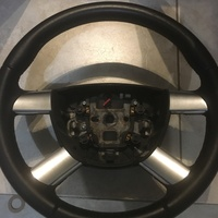 Leather wrapped steering wheel