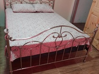 Queen size Bed and pillow top mattress
