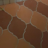 Spanish and rectangular clay tiles