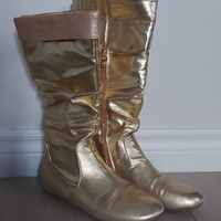 Tall Gold Boots