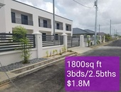 Highland Ridge Townhouses, Boy Cato, Cunupia 1800sq ft