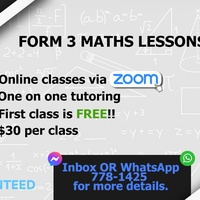 Form 3 Math Lessons