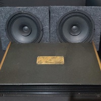 Class AB 4ch amp and 6 inch speakers in box