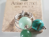 Turquoise ring set of 3x