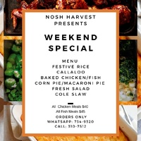 Nosh Harvest Catering Services has Mouth watering Creaole Home Style