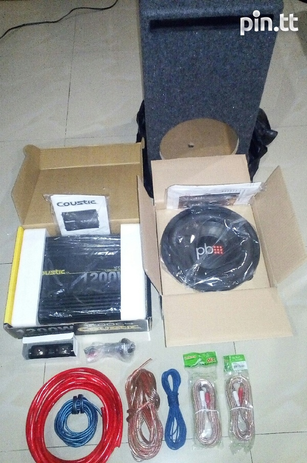 Brand New Amp, Sub, Box and Wires Combo.-1