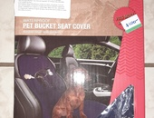 Avalanche Pet BUCKET seat Cover Navy and Black 21 x 45.5
