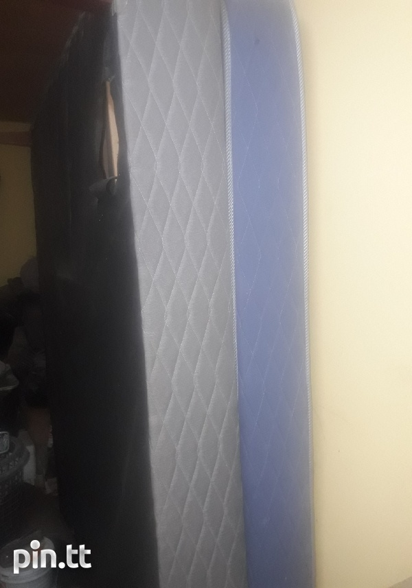 3 months old queen size mattress and base-1