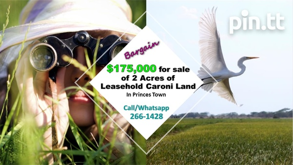 2 Acres Caroni Leasehold Agricultural Land