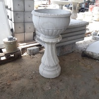 Concrete pot and stand