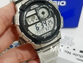 Casio Men's AE1000WD-1AV Silver Digital Watch