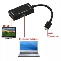 Micro USB to HDMI MHL adapter Mobile phone to TV mirroring/projecting