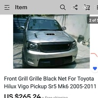 Hilux front grille .. bought and shipped new...never used...