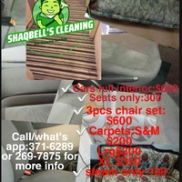 Shaqbell's upholstery cleaning
