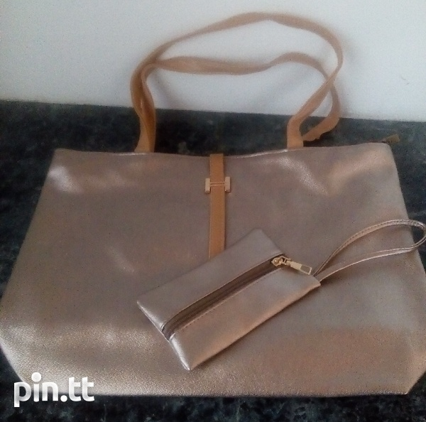 Plain Handle Bags with carrying purse-4