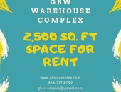 GBW Warehouse - Bays of Freeport 2500sft each. Contact 620-5351