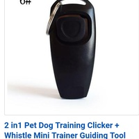 NEW DOG TRAINING WHISTLE AND CLICKER
