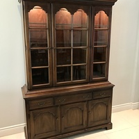 Dining Room Hutch/China Cabinet - Cherry Wood
