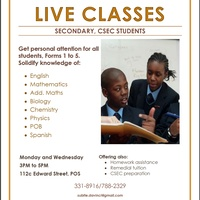 Live Classes for Secondary And CSEC