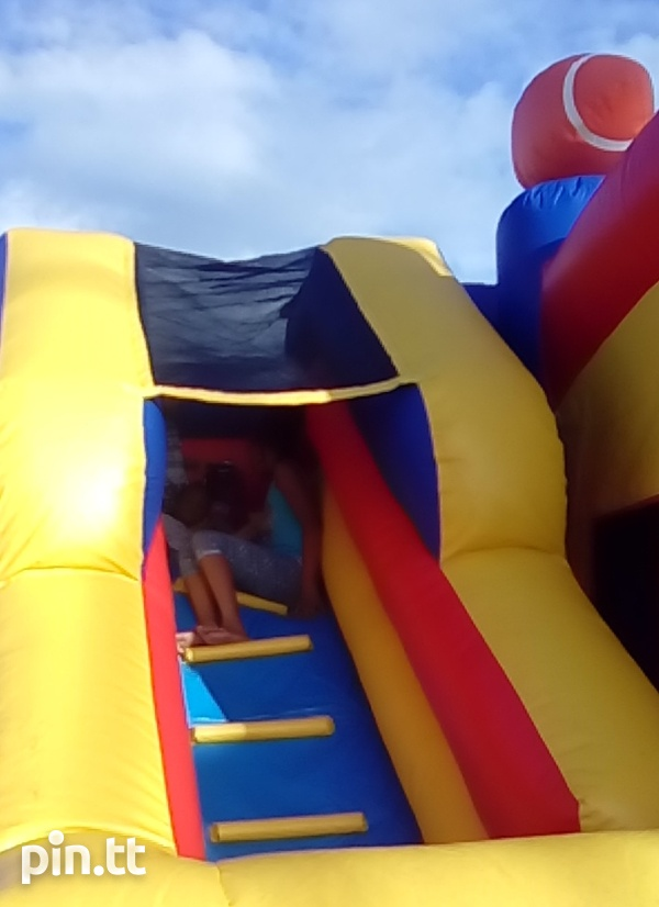 Sport themed bounce and slide bounce house-5