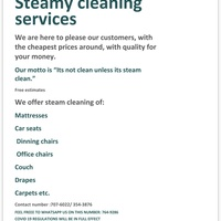 J&M cleaning services presents steamy clean
