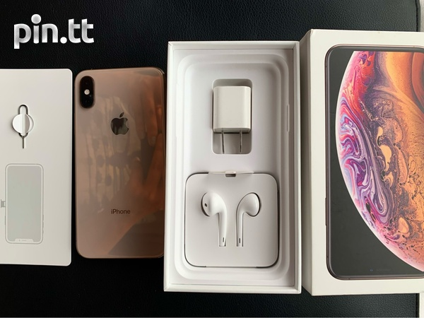 Gold IPhone XS + Accessories-2