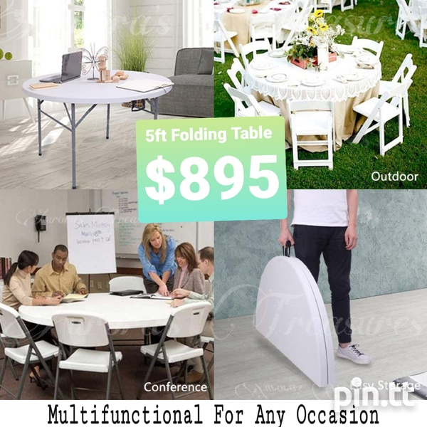 5ft Folding Table - for Zoom Classes-1