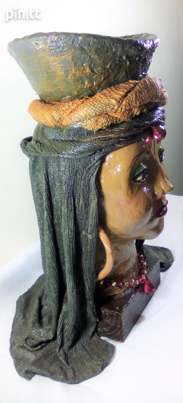 Ornament- Head with basket -Art by Lestra-3