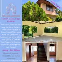 4 BEDROOM CHAMPS ELYSEE, EARLY MARAVAL HOUSE